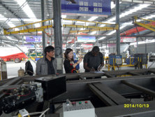African customer visit AOTONG Trailer