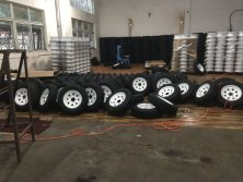 steel wheels & tyres assembly workshop