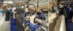 Our engineer installs the hose making machine in Russia.