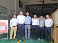 Sweden Atlas Copco Purchasing Director Martin Karlsson and Atlas Japan purchasing manager Hiroshi Takmura visit Hongzhou