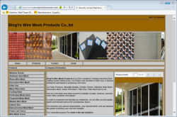 The second Website about BingYe Wire Mesh Products Co.,LTD