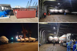 LPG Tankers are shipping at the port yard