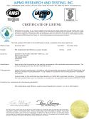 2017 Watersense certificate