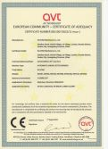 CE certificate for Linear Sharppening Machine