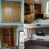 red oak wardrobe kitchen cabinet bookcase
