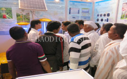 attending Kisan 2014 Agricultural fair in Pune city,india market welcome the solar insect killer