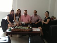Soudi Arabic Clinet′s visit to ChuangFan Office furniture factory