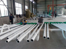 Workshop of Solar Street Light Poles