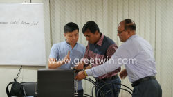Thai customers visit our company