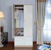 Bedroom Furniture Customized Wooden 2 Door 2 drawer Wardrobe