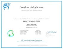 TS16949-2009 Quality Management System