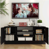 Modern Design Storage Simple Wooden TV Cabinet