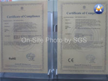 CE and RoHS Certificate for CCTV Camera