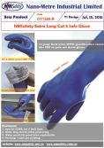 Long cuff fully dipped nitrile cut resistant glove