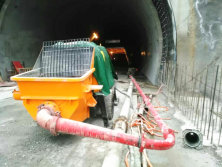 Pully Electric Concrete Pump Construciton Of Tunnel