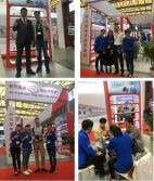Customers visit our booth