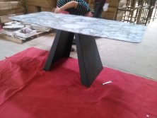 Marble like table top dining table-2