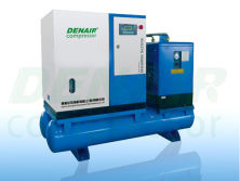 Combined screw air compressor delivered to Italy
