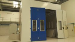 helicopter spray booth finished in Dubai
