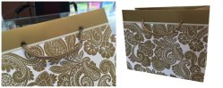 Gold printing (Panton color printing )on white paper bag