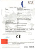 2007 CE certificate for BOWAY perfect binder 950 970