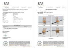 SGS test for chiavari chairs