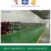 warehouse of stainless steel pipe