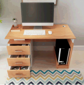 E1 18mm/16mm melamine particle board office desk computer table