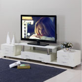 Modern White MDF/Particle board living room TV cabinet