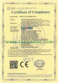 CE Certificate Compliance for Solar Charger Controller