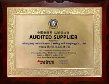 Audited Supplier Certificate of Shenyang New Densen
