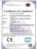 MOTORCYCLE BATTERY CE/EMC CERFICATE