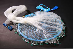 Mono Fishing Cast Net with Plastic Frisbee