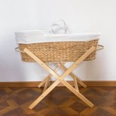 NEW NATURAL BABY MOSE BASKET