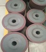 grinding wheels with black paper wait for packing