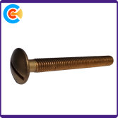 Slotted brass screw