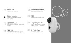Wire Free Waterproof Outdoor Mini IP Camera Q6