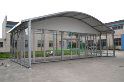 Arcum tent with glass walls