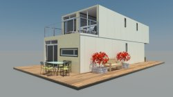 Professional designer on container house for customer.