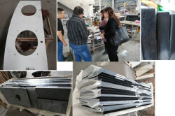 Our Montreal ,Canada come to inspect sparkle black quartz countertops