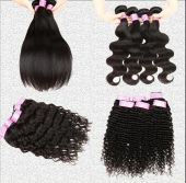 Luxury Brazilian Human Hair Extension 100% Virgin Hair,Straight,Body wave,Deep Wave,Afro