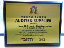 SGS-Audited Supplier certificate