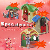 Special Gift For Woman′s Day Get Your Kids Play Game House Freely!