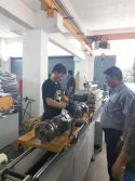 our engineer is helping India customer installation and commissioning Mechanical forming metal hose making machine