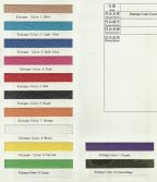2014 colour card for kinesiology tape
