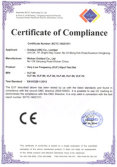 CE certificate for VLF hipot tester
