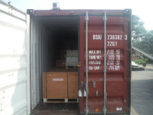Pressboard strips delivery toJakarta 20 gp containers
