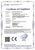 CE EMC certificate of led light