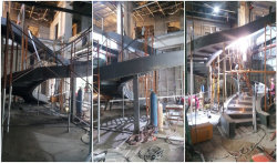 Spiral staircase installating.....Final product pictures to be contined...