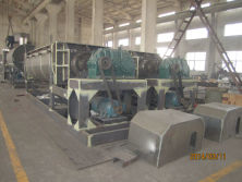 Hollow blade oar drying machine for slurry materials